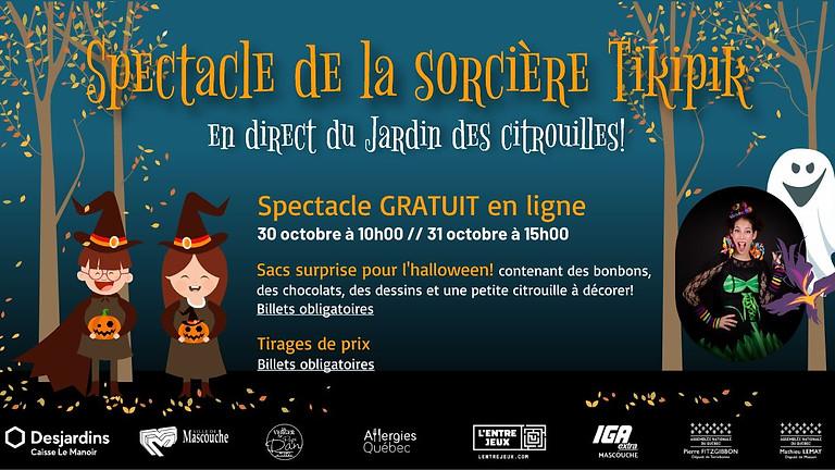 Spectacle de la sorcière Tikipik en direct du Jardin des citrouilles!