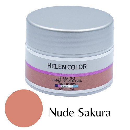 Gel para Unhas de Gel Helen Color Silver - Nude Sakura 20g