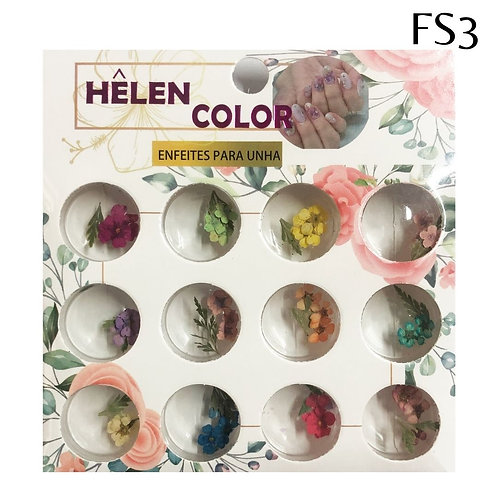 Flores secas para encapsular - Caixa com 12 TRIOS -  Helen Color