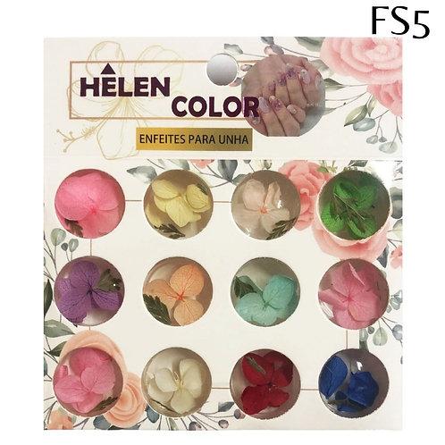 Flores secas para encapsular - Caixa com 12  -  Helen Color