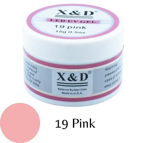 Gel XeD Pink 19 - 15g - Alongamento - Unhas de Gel LED UV