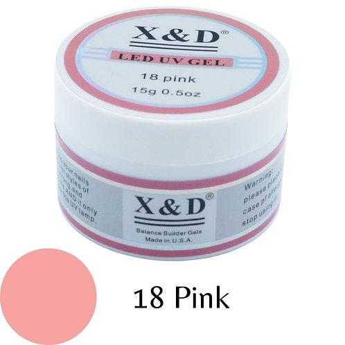 Gel XeD Pink 18 - 15g - Alongamento - Unhas de Gel LED UV