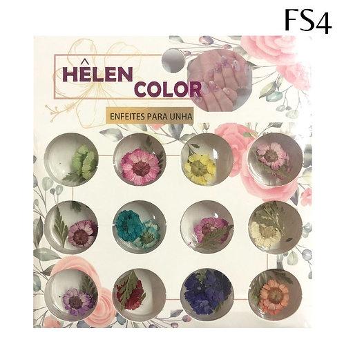 Flores secas para encapsular - Caixa com 12 PARES -  Helen Color