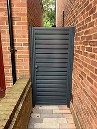 Metal Slatted Side Gate Anthresite grey
