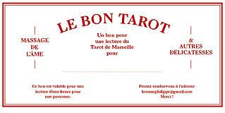 Bon_Tarot.jpg cadeau pour un tirage du tarot de Marseille par Philippe Koeune