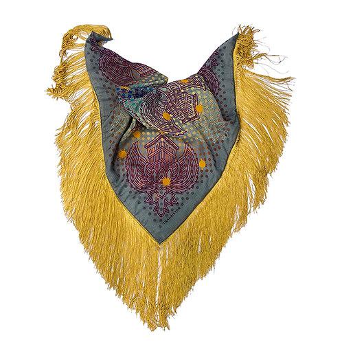 Rustic Garuda - Fringed scarf