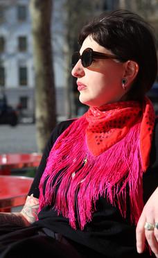 Garuda - Wool/Silk fringed scarf