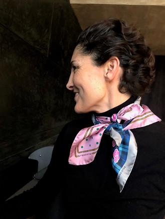 Megamendung & Merak - Silk twill kerchief