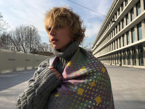 Garuda - Silk twill scarf