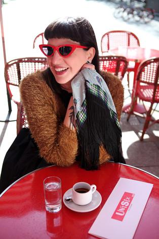Megamendung - Wool/Silk fringed kerchief