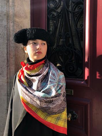 Megamendung - Silk twill scarf
