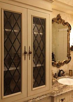Guest Bath Linen Cabinets