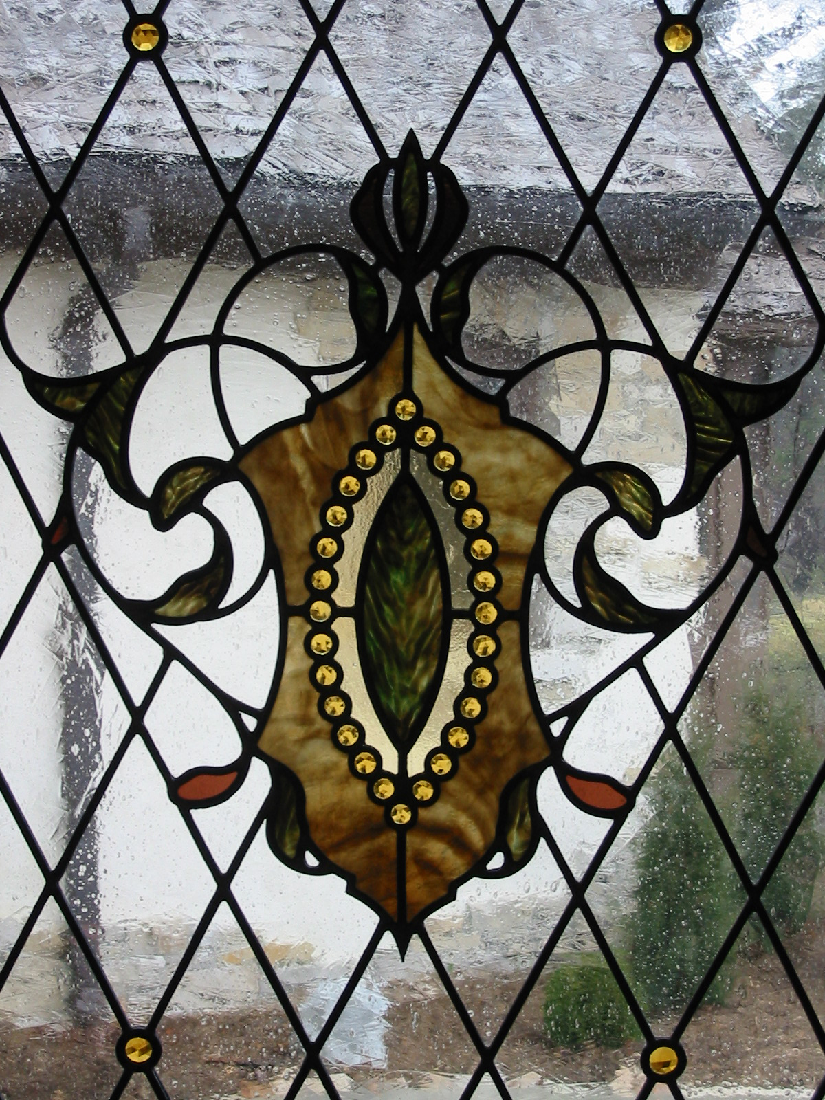 Jeweled Shield Window