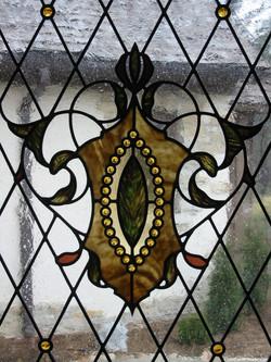 Jeweled Shield Window
