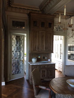 Mirrored Pantry Door & Transoms