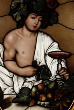 Wine Library Window (Detail)
