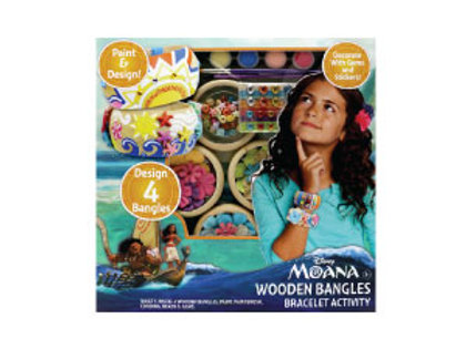 Moana Wooden Bangles Bracelet Activity Set