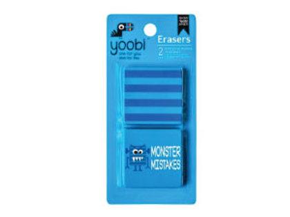 yoobi Erasers 2pk