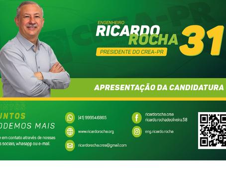 CANDIDATURA ENG. RICARDO ROCHA - PRESIDÊNCIA CREA-PR