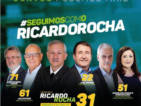 Peço seu voto a esta chapa que representa o Paraná nas eleições do nosso Sistema Profissional!