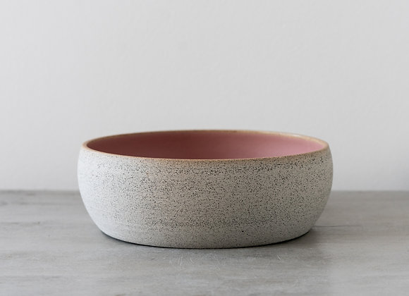 Miska kamienna jasna/różowa