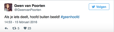 Sexting campagne #geenhoofd