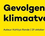 Gevolgen van klimaatverandering