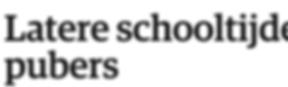 Latere schooltijden zinloos voor pubers