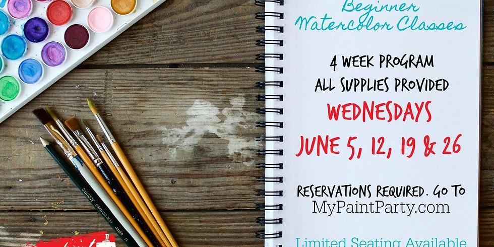 BEGINNER WATERCOLOR CLASS | JUNE 12 (2 of 4)