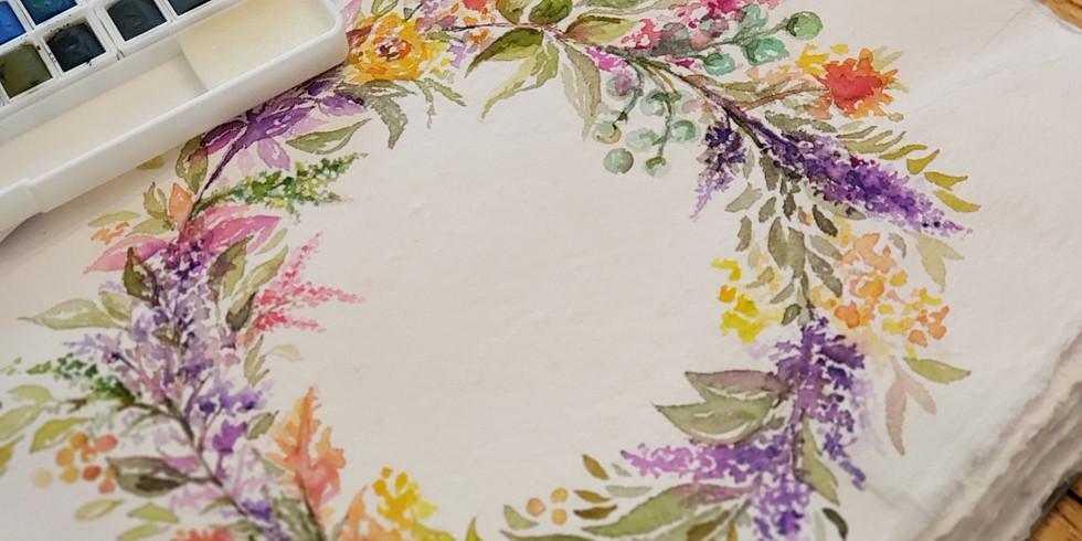 Watercolor WednesDAY | FALL WREATH | NOVEMBER 13 | 10 AM | $35 (1)