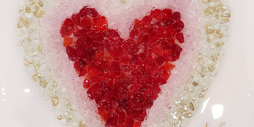FEBRUARY 12 | GLASS & EPOXY RESIN: HEART | 6 - 8:30 pm | $50.00 |CHOOSE YOUR OWN COLORS