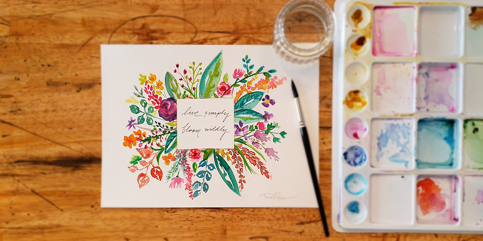 Watercolor Wednesdays/Choose Your Own Words & Colors