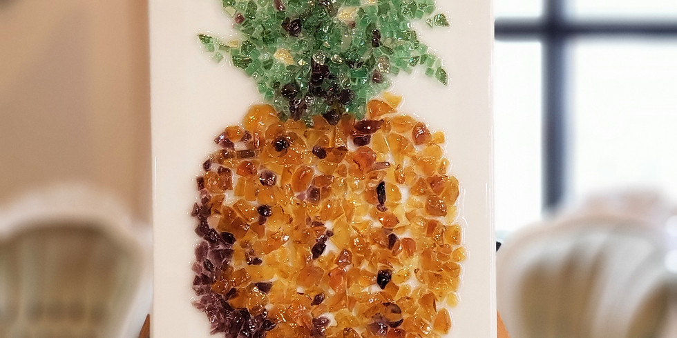 GLASS & EPOXY RESIN: PINEAPPLE | JULY 27 | 6 - 8:30 pm | $50.00 | You must pre-pay for this event