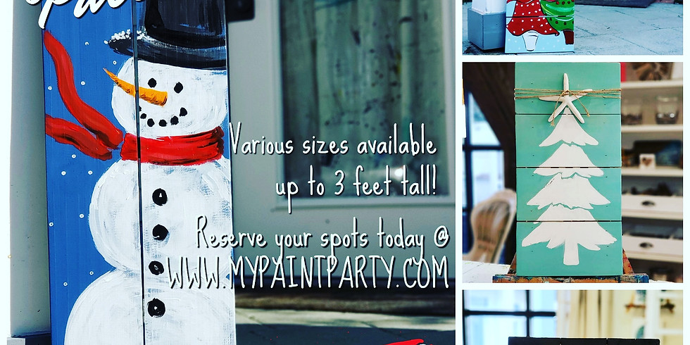 DECEMBER 7 | 10-12:00 | PALLET BOARD OPEN STUDIO | CHOOSE YOUR OWN SIZE AND DESIGN