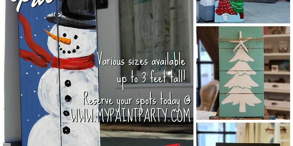 DECEMBER 17   6 PM   PALLET BOARD ART and OPEN STUDIO!