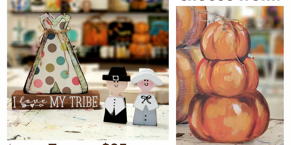 FAMILY AND KIDS' PAINT PARTY - SATURDAY |  NOVEMBER 23 | 10 am -12:30 pm | $15-$25 (depending on project)