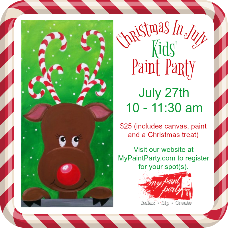 Christmas In July Party Clipart.Christmas In July Kids Paint Party July 27 10 11 30 Am 25