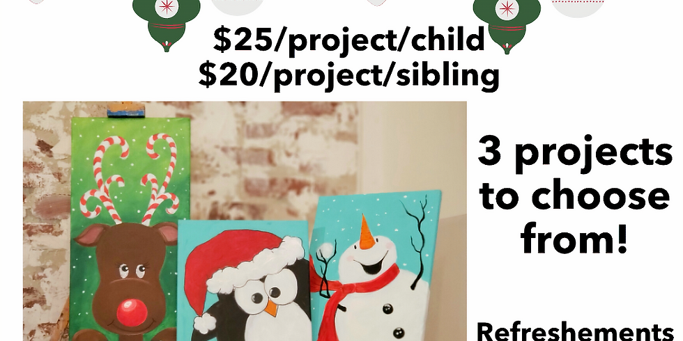 KIDS' FALL ART BREAK - Fall Break |  NOVEMBER 25 | 10 am -12:30 pm | $25 (discounts available for siblings)