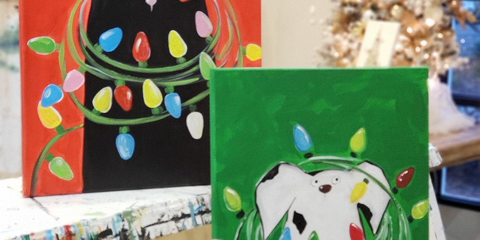 DECEMBER 21   6 PM   $35   CHRISTMAS CAT OR DOG /CHOOSE YOUR OWN COLORS  