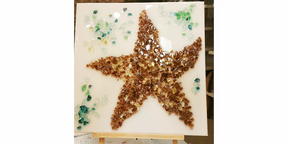 GLASS & EPOXY RESIN: STARFISH | March 9 @ 6:00 pm - 8:30pm | $50.00 (You must pre-pay for this event)