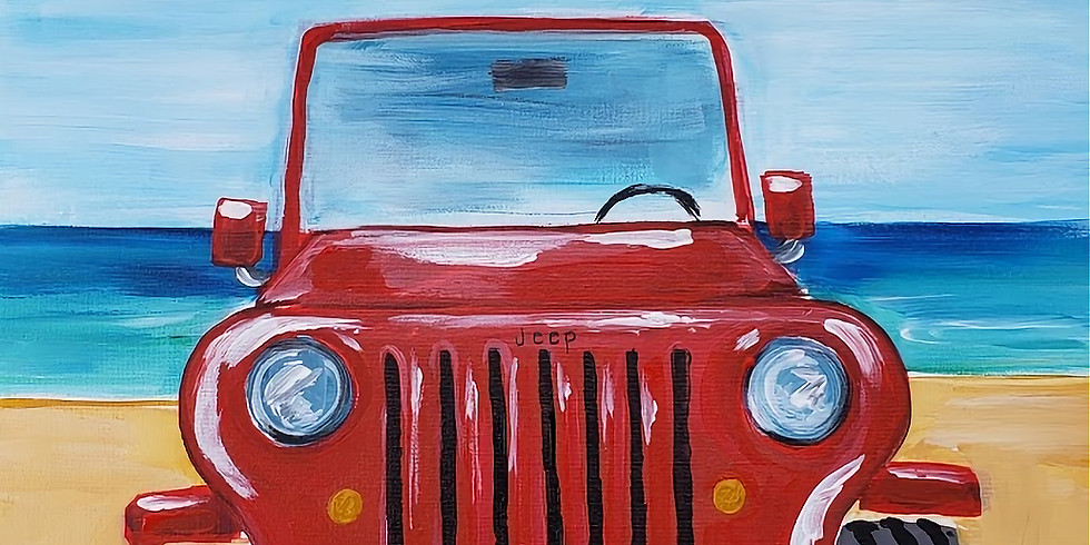 JEEPIN' ON THE BEACH   CHOOSE YOUR OWN COLORS   JULY 31   6-8:30 pm   $35