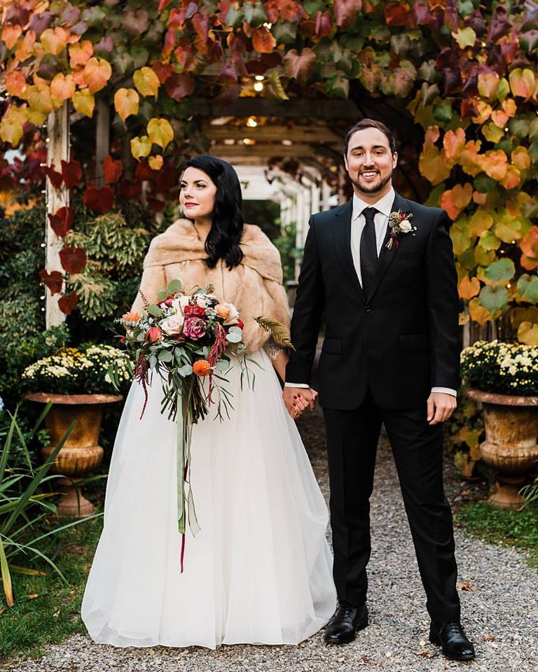 Glorious October couple