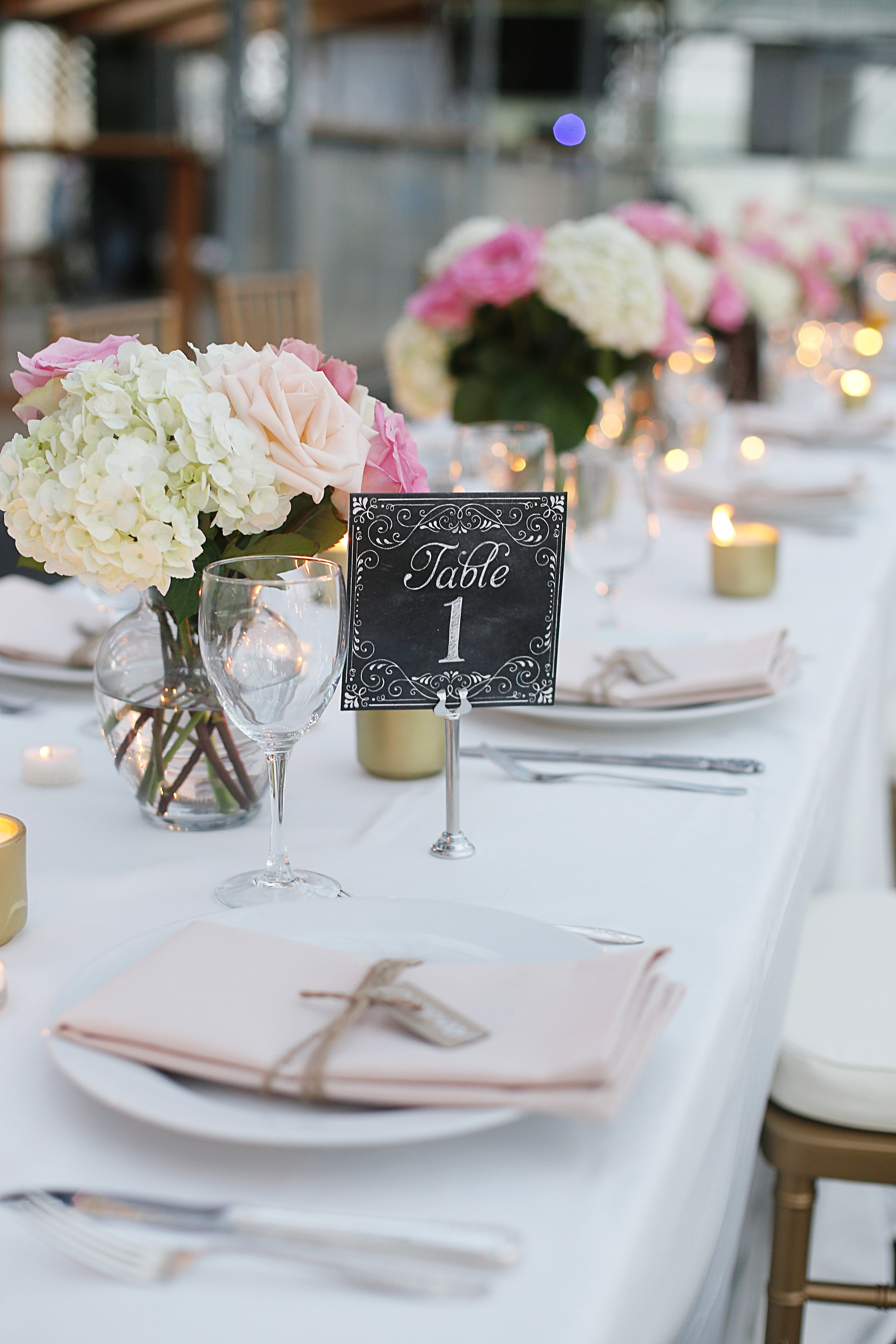 Simple and sweet Wedding Table