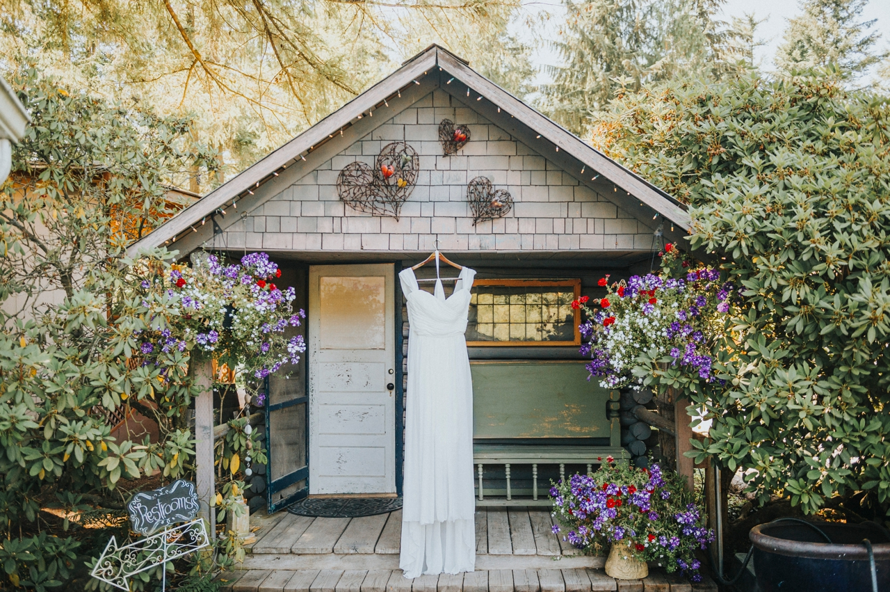 Bridal Cabin and dress
