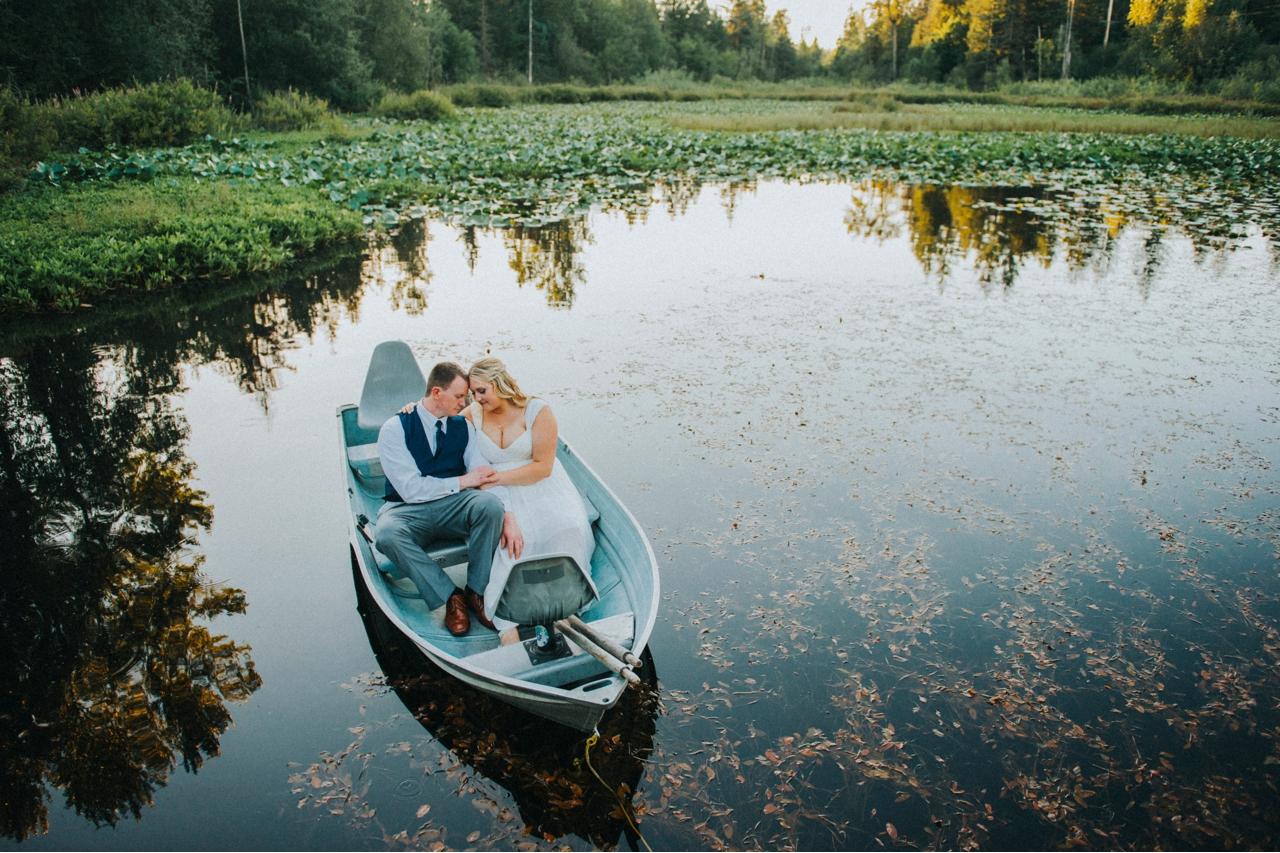 Matt & Emily in the boat