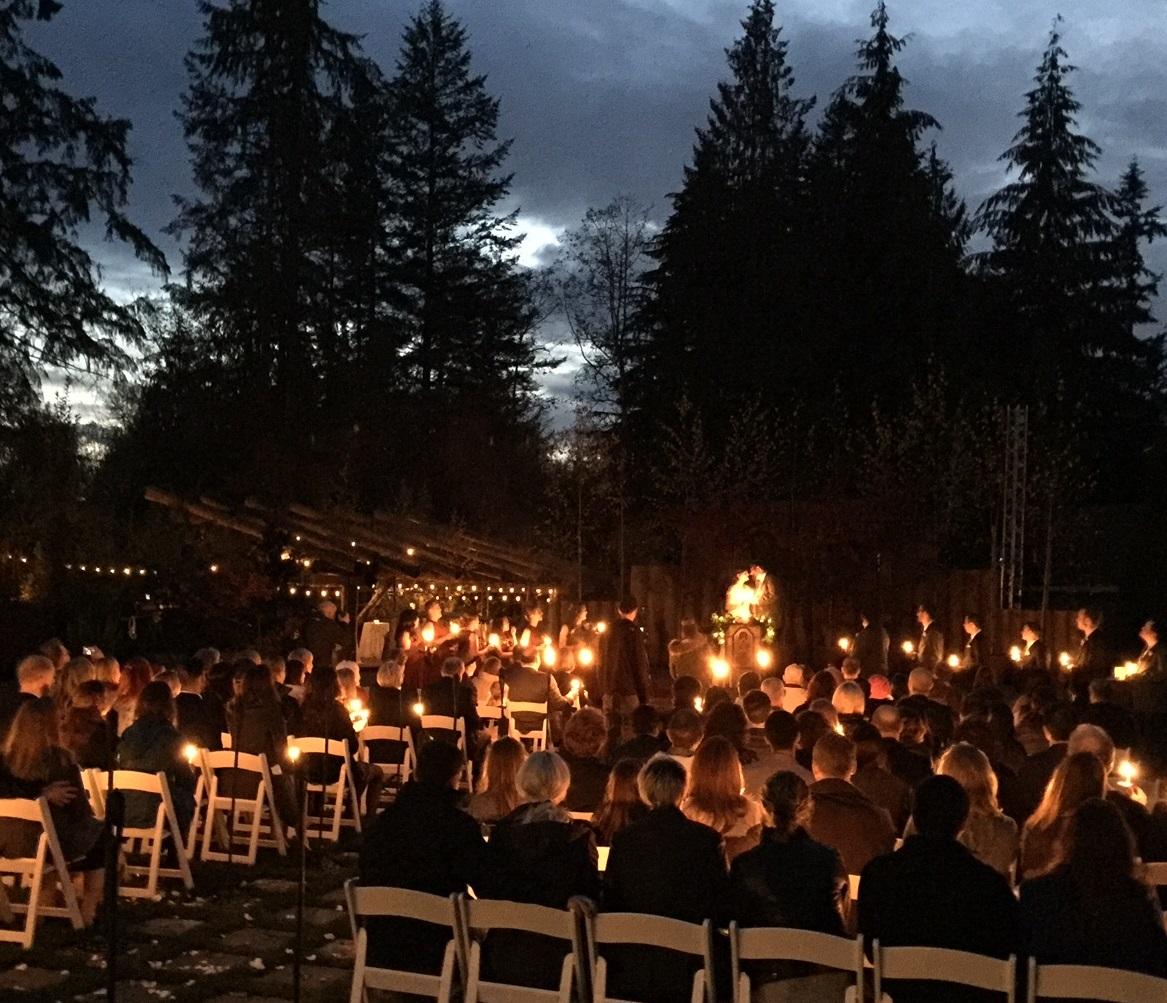 Amazing candlelight ceremony