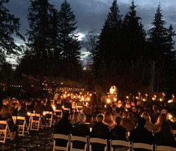 Amazing candlelight ceremony