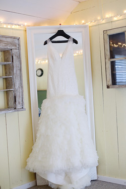 Wedding Dress in the cabin