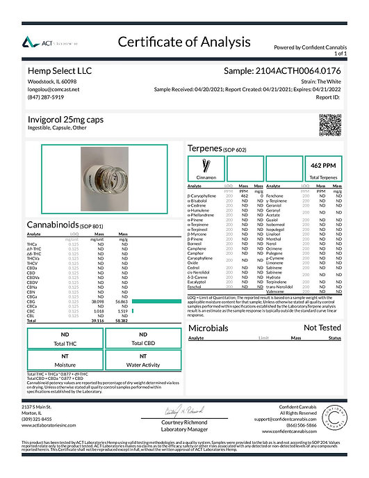 2104ACTH0064.0176 - Hemp Select LLC - In