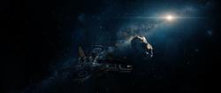 Gantarian Ship misses asteroid
